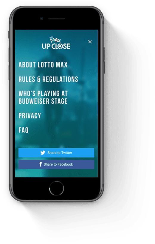 About Lotto Max Mobile Page