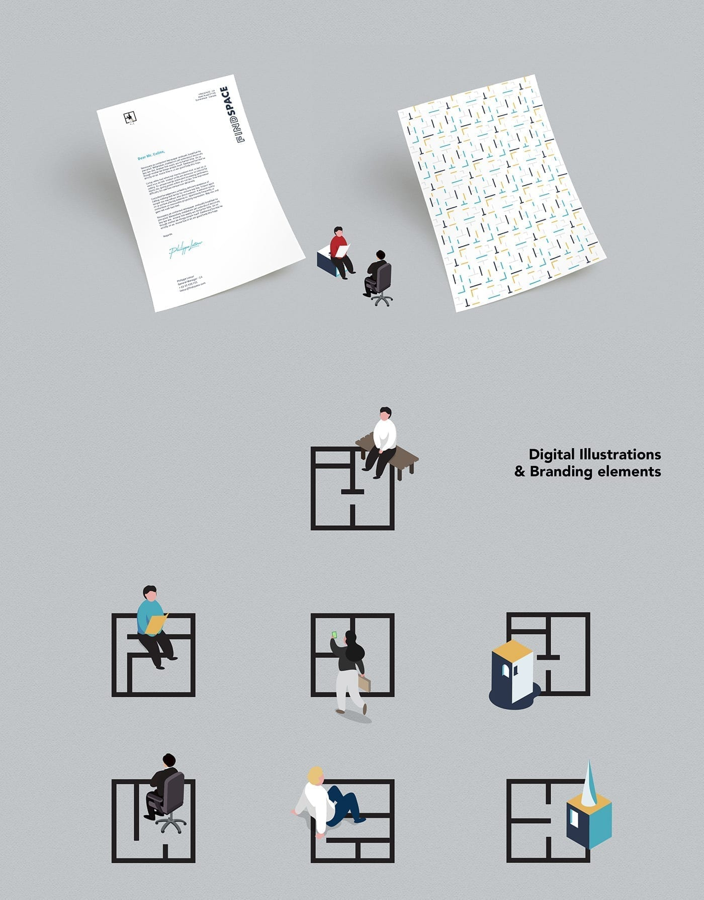 findspace_digital-illustrations_and-branding-elements