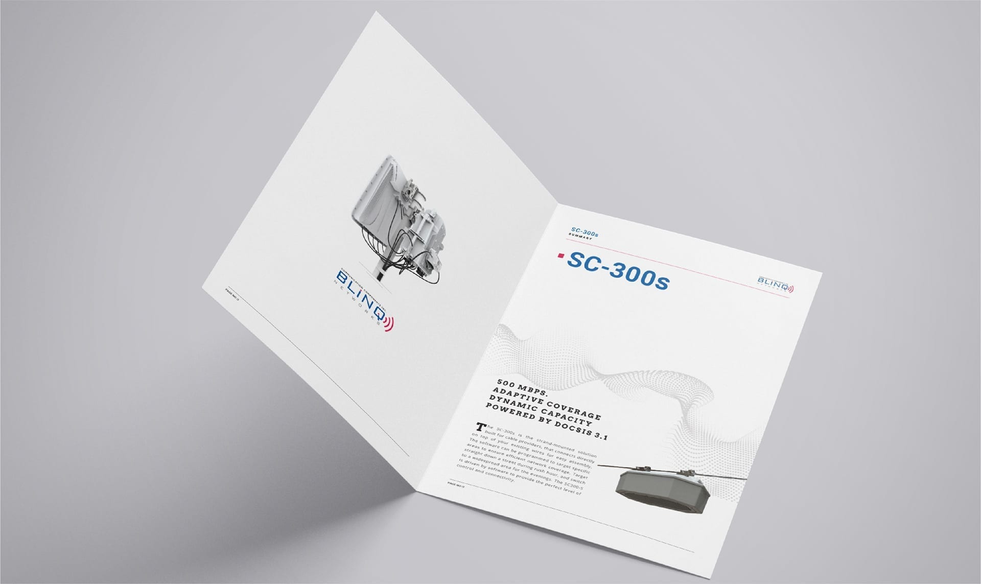 inside of the sc300s product brochure