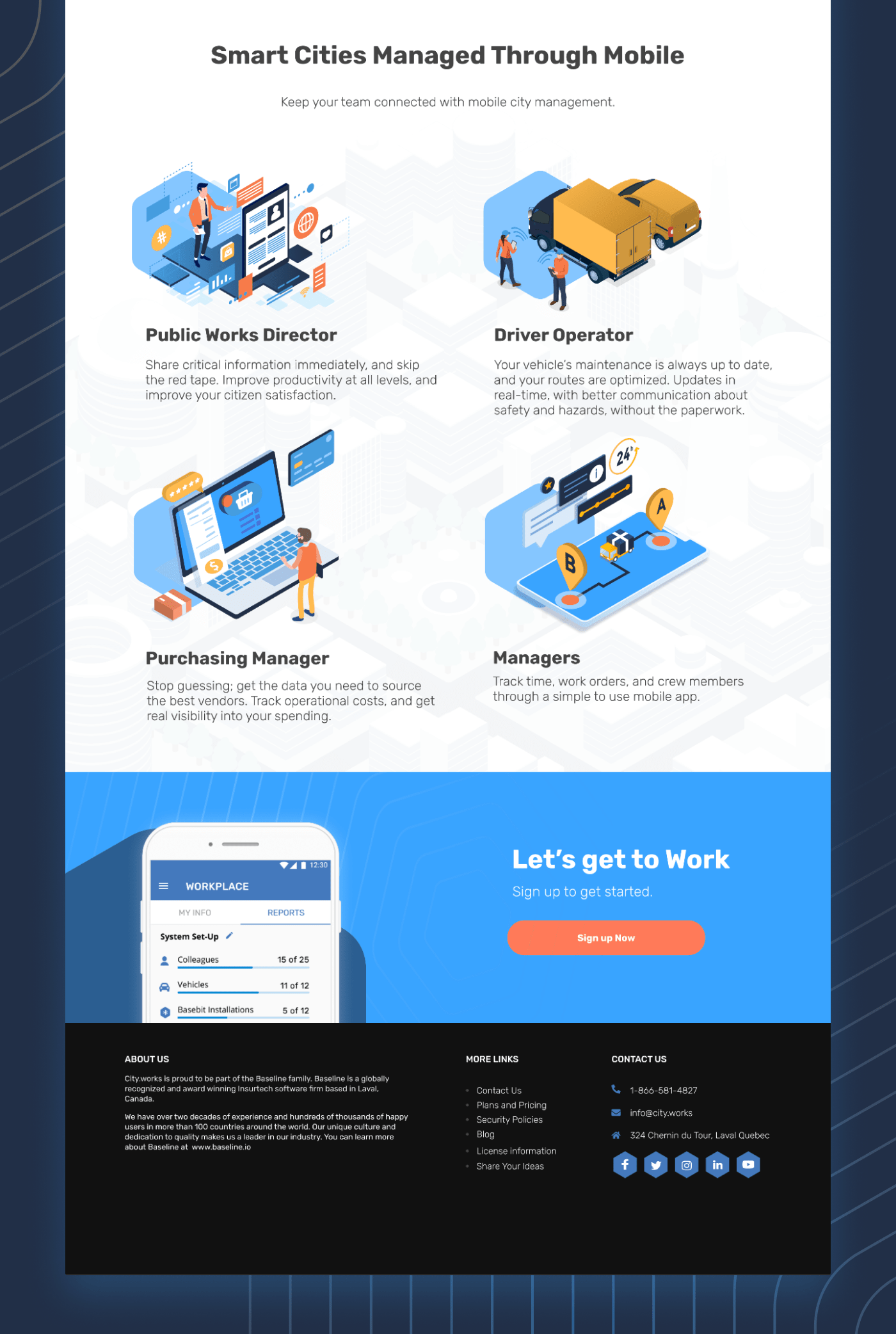 City Works Landing Page 2