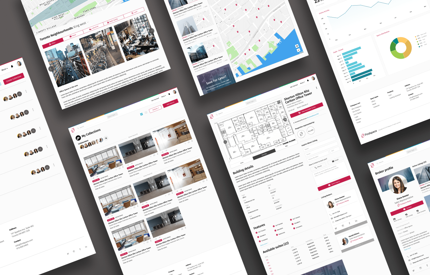 Findspace Website isometric view
