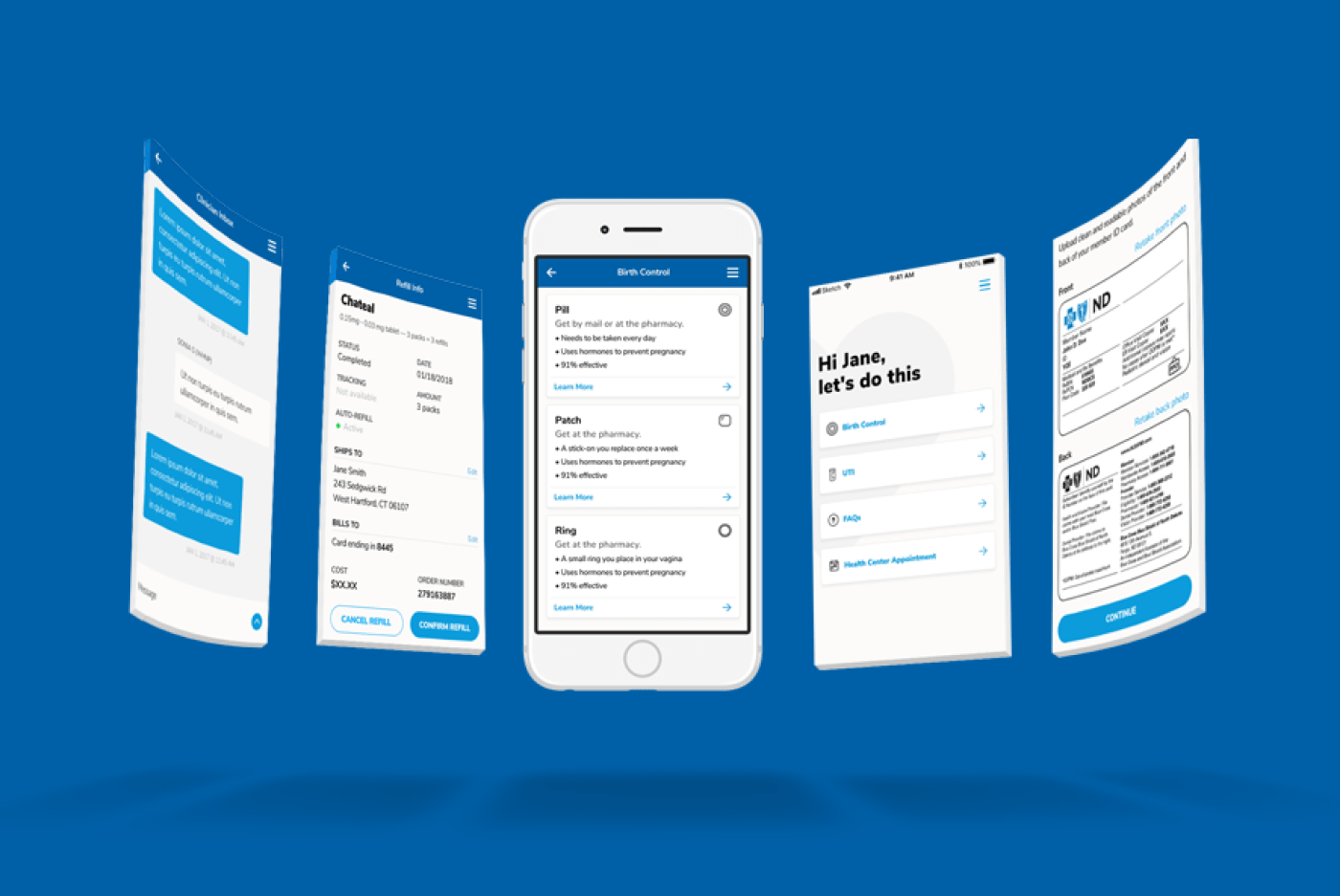 Planned Parenthood App Mock Ups