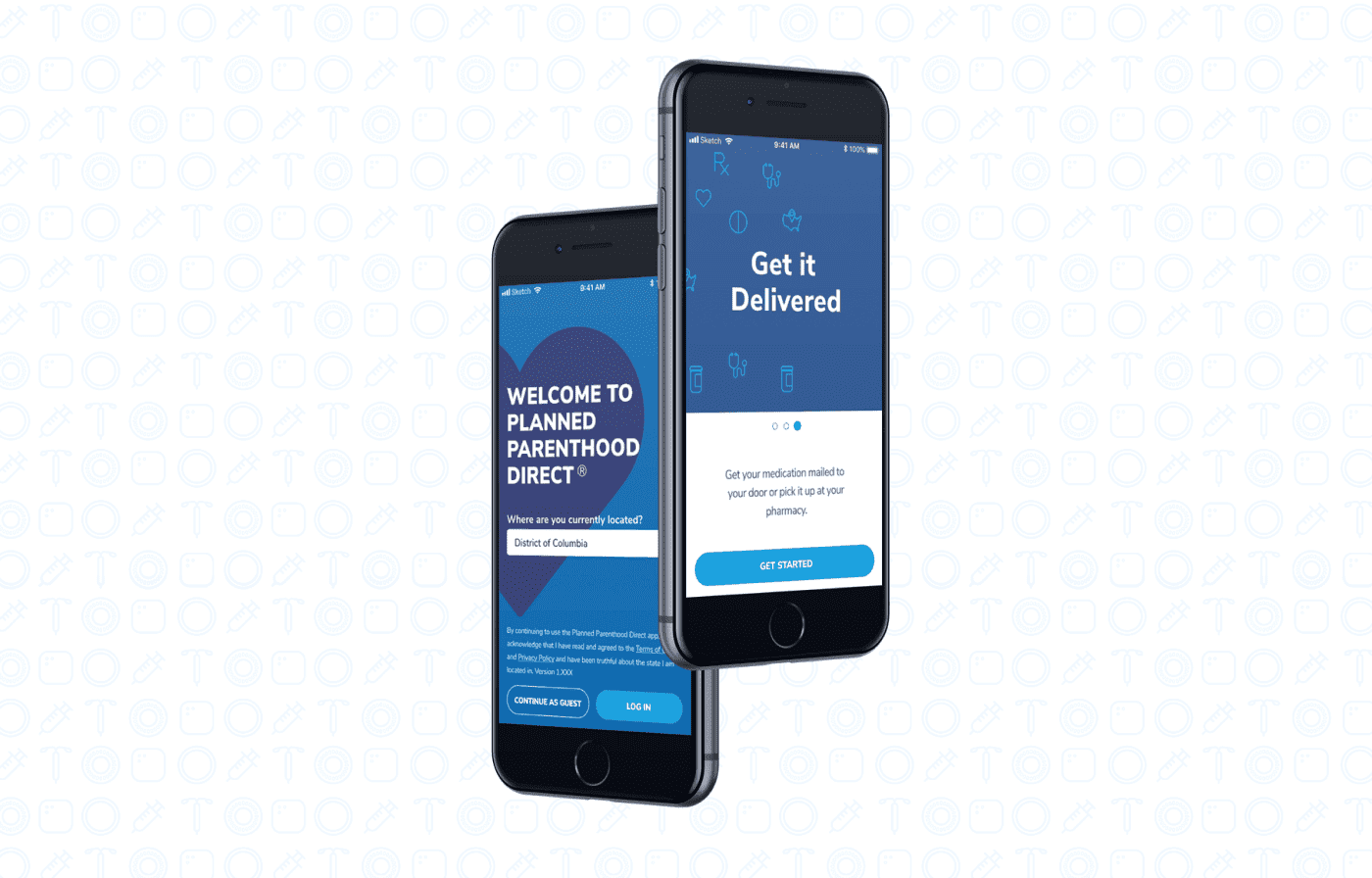 Planned Parenthood App Mock Up