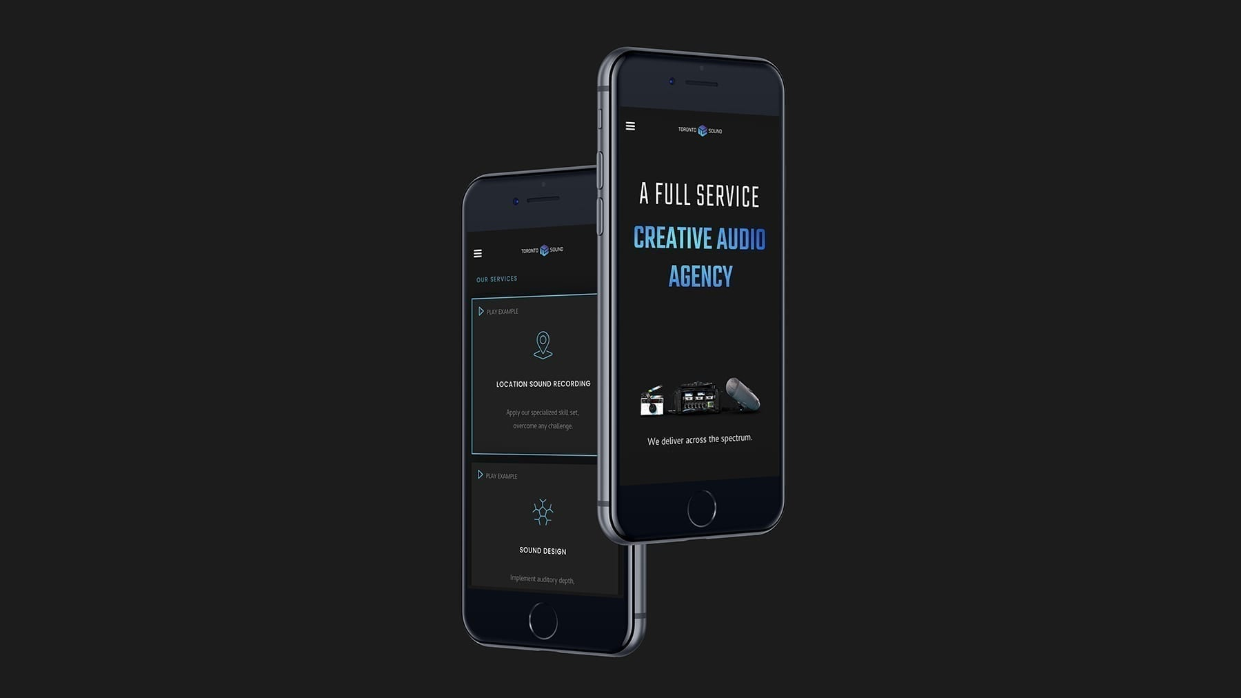 Toronto Sound website design for mobile